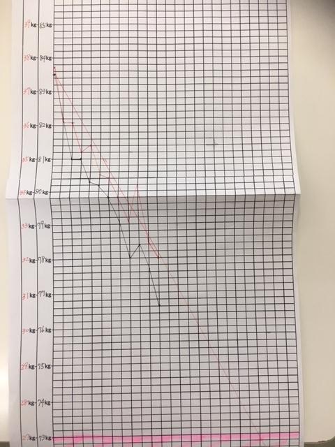 耳つぼダイエット グラフ