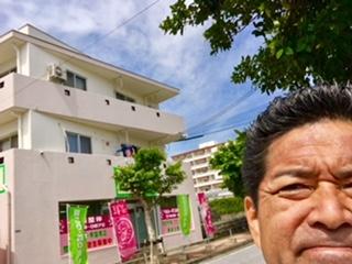 沖縄市高原、梅雨の晴れ間