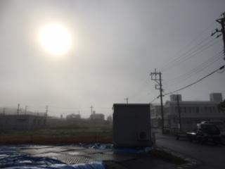 沖縄市 濃霧
