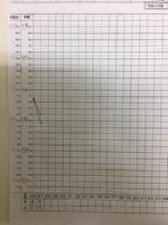 耳ツボダイエットのグラフ