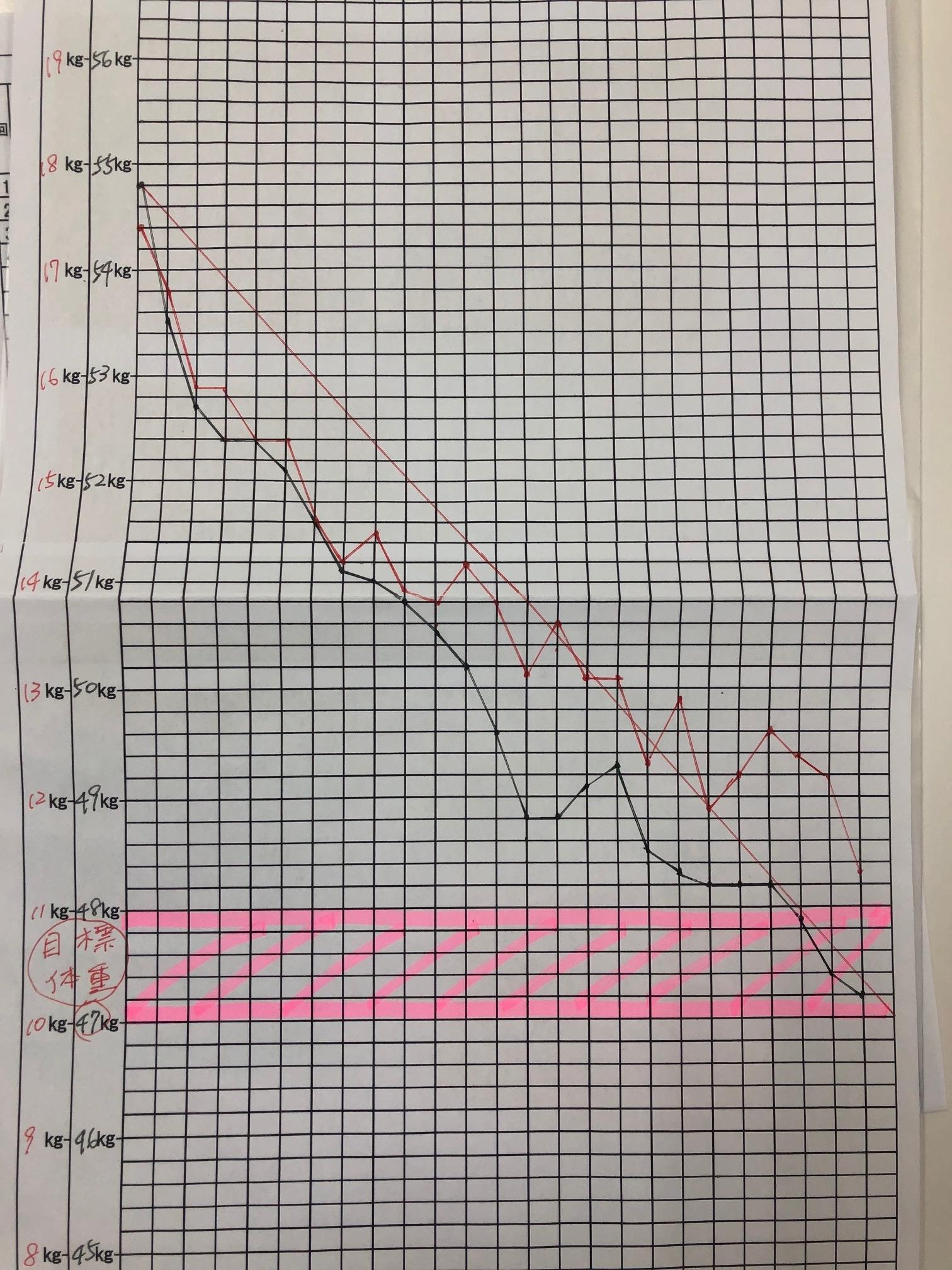 耳ツボダイエットグラフ